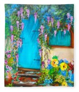 Garden Secrets - Wisteria Fleece Blanket