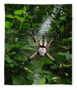 Garden Spider Fleece Blanket