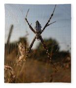 Garden Spider Fleece Blanket