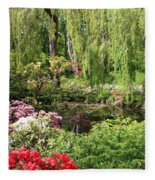 Garden Splendor Fleece Blanket