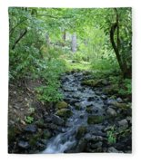 Garden Springs Creek In Spokane Fleece Blanket