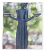 Garden Statue Dreams Fleece Blanket