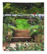Garden Trellis Fleece Blanket