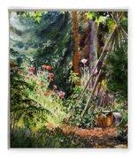 Garden View Window Fleece Blanket