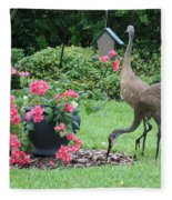 Garden Visitors Fleece Blanket