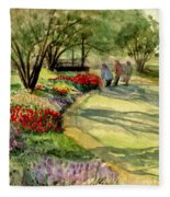 Garden Walk Fleece Blanket