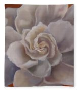 Gardenia  Bloom Fleece Blanket