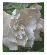 Gardenia Blossom Fleece Blanket