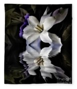 Gardenia Fleece Blanket