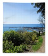 Gardens Overview - Lyme Regis Fleece Blanket