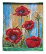 Gardens Poppy Fleece Blanket