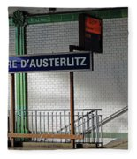 Gare D'austerlitz In Paris, France Fleece Blanket