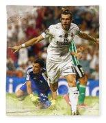 Gareth Bale Celebrates His Goal  Fleece Blanket
