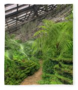 Garfield Park Conservatory Path Chicago Fleece Blanket