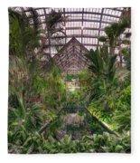 Garfield Park Conservatory Reflecting Pool Fleece Blanket