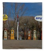 Gas Pumps And Gas Signs Panorama Fleece Blanket
