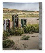 Gas Station Relics Fleece Blanket