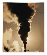 Gaseous Air Pollution Fleece Blanket