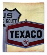 Gasoline Signs Fleece Blanket