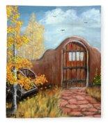 Gate By The San Juan Fleece Blanket