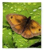 Gatekeeper Butterfly After The Rain. Fleece Blanket