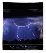 Gates To Heaven Color Poster Fleece Blanket