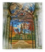 Gates To Knowledge Princeton University Fleece Blanket