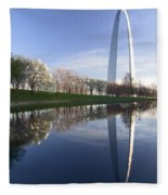 Gateway Arch And Reflection Fleece Blanket