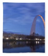 Gateway Arch At Dawn Panoramic Fleece Blanket