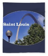 Gateway Arch - Saint Louis - Transparent Fleece Blanket