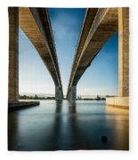 Gateway Bridge Brisbane Colour Fleece Blanket