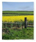 Gateway To Golden Fields Fleece Blanket