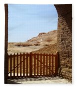 Gateway To Monthemhat Tomb Fleece Blanket