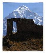 Mt Veronica And Inti Punku Sun Gate Fleece Blanket