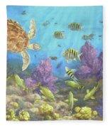 Gathering In The Reef Fleece Blanket