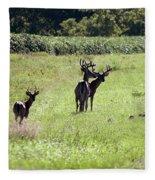 Gathering Of Bucks Fleece Blanket