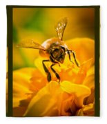 Gathering Pollen Triptych Fleece Blanket
