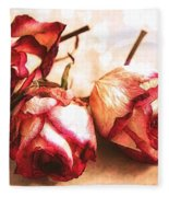Gathering Rosebuds Fleece Blanket