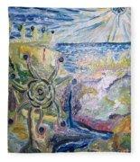 Gathering Water Fleece Blanket