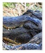 Gator Head Fleece Blanket