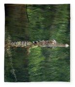 Gator In The Spring Fleece Blanket