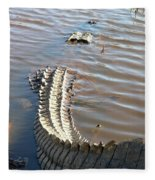 Gator Tail Fleece Blanket