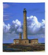 Gatteville Lighthouse Fleece Blanket