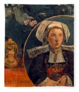 Gaugin: Belle Angele, 1889 Fleece Blanket