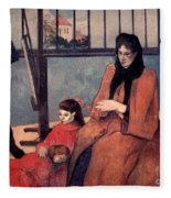 Gaugin: Family, 1889 Fleece Blanket