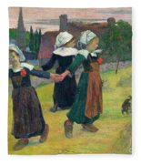 Gauguin, Breton Girls, 1888 Fleece Blanket