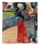 Gauguin: Breton Women, 1894 Fleece Blanket