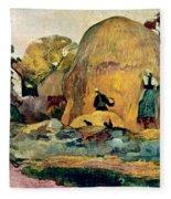 Gauguin: Haystacks, 1889 Fleece Blanket
