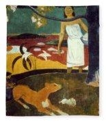 Gauguin: Pastoral, 19th C Fleece Blanket