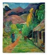 Gauguin Tahiti 19th Century Fleece Blanket